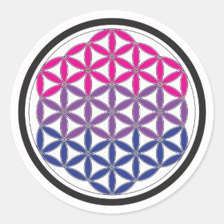 bi sacred geometry classic round sticker