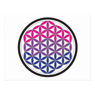 bi sacred geometry postcard