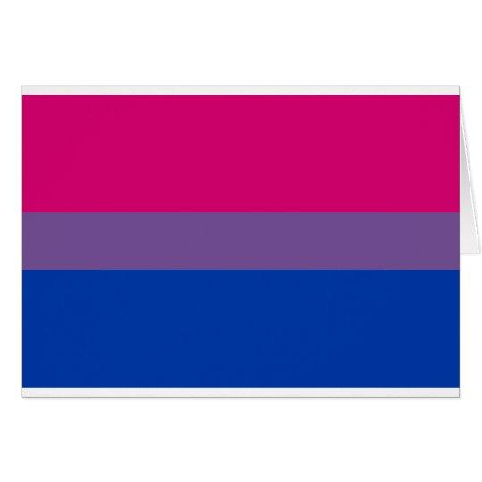 Bi-Sexual Pride Flag Card