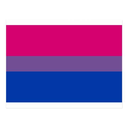 Bi-Sexual Pride Flag Postcard