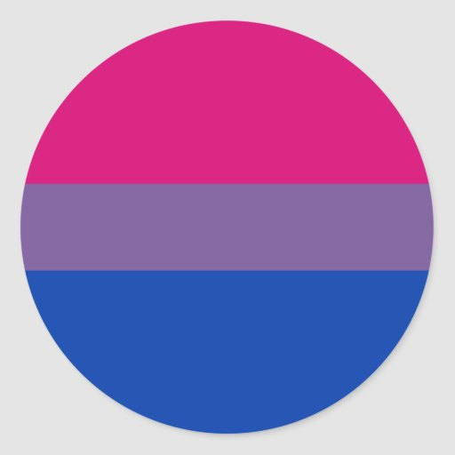 Bi-Sexual Pride Flag Round Sticker