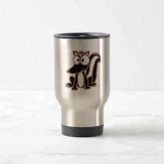 BI- Silly Skunk Cartoon Travel Mug