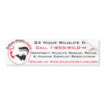 Bi-State Wildlife Hotline Bumper Sticker