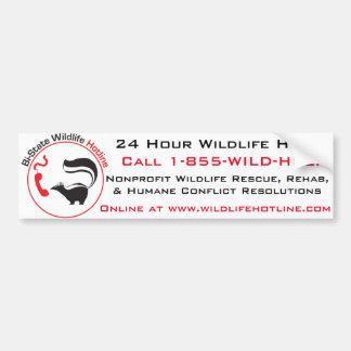 Bi-State Wildlife Hotline Bumper Sticker Car Bumper Sticker