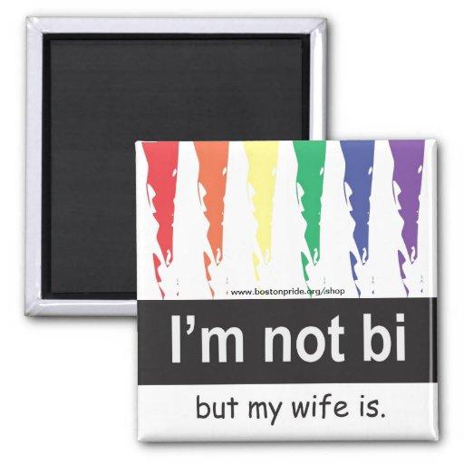 Bi Wife Magnet Square