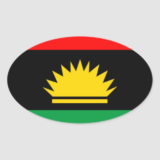 Biafra republic minority people ethnic flag oval sticker