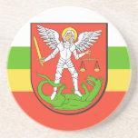 Biala Podlaska, Poland flag Drink Coaster