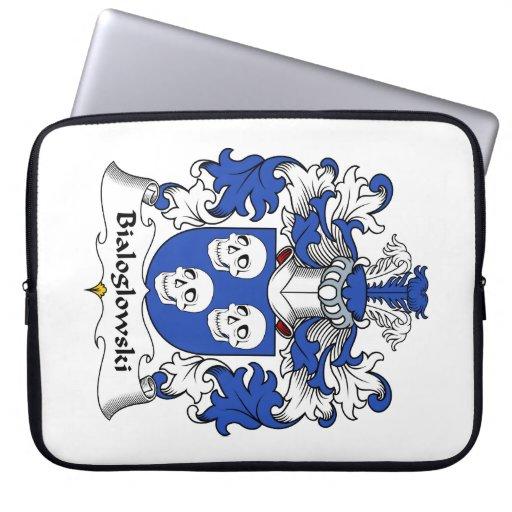 Bialoglowski Family Crest Computer Sleeve