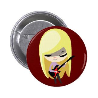 Biana the Blonde Bassist 2 Inch Round Button