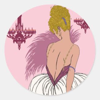 Bianca en el rosa - pegatinas