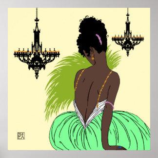 Bianca en verde - impresiones/posters