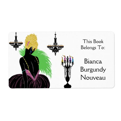 Bianca in Black and White - Bookplate Custom Shipping Labels