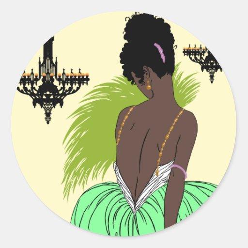 Bianca in Green - Stickers