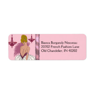 Bianca in Pink and Burgundy Label