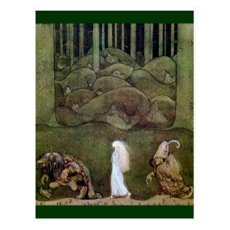 Bianca Marie y los duendes del bosque Tarjeta Postal
