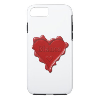 Bianca. Red heart wax seal with name Bianca iPhone 7 Case
