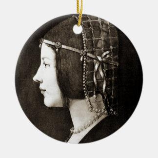 Bianca Sforza by Leonardo da Vinci Ceramic Ornament