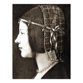 Bianca Sforza by Leonardo da Vinci Letterhead
