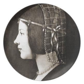 Bianca Sforza by Leonardo da Vinci Plate