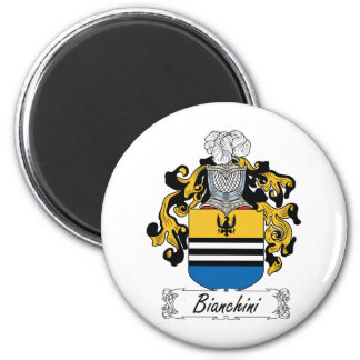 Bianchini Family Crest 2 Inch Round Magnet