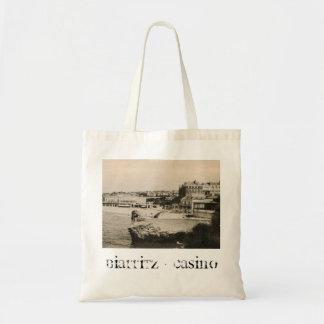 Biarritz - casino en la playa bolsa tela barata