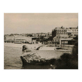 Biarritz - casino en la playa póster