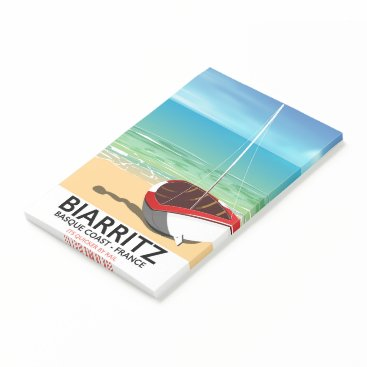 Biarritz France Beach travel poster Post-it Notes