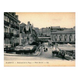 Biarritz, France, Boulevard de la Page Vintage Postcard