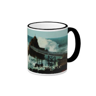Biarritz fRANCE La tempête THE TEMPEST Ringer Coffee Mug