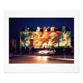 Biarritz Holiday Lighting Photo Print