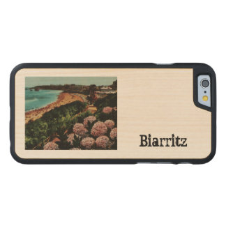 Biarritz Hortensias France Carved Maple iPhone 6 Case