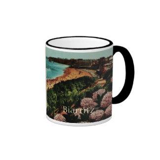 Biarritz Hortensias France Ringer Coffee Mug
