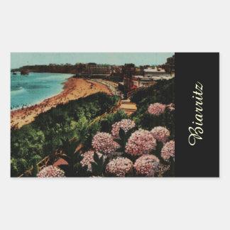 Biarritz Hortensias France Rectangular Sticker