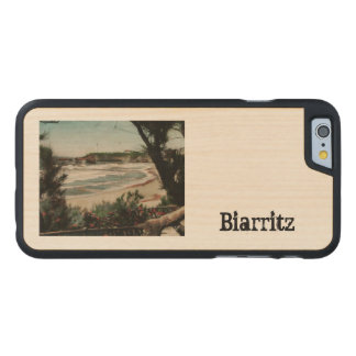 Biarritz Le Phare France Lighthouse Carved Maple iPhone 6 Slim Case