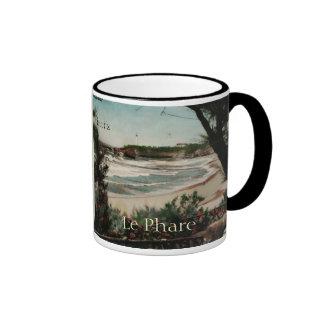 Biarritz Le Phare France Lighthouse Ringer Coffee Mug