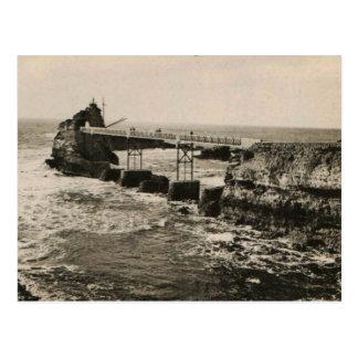 Biarritz Pont et Rocher Postcard