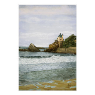 Biarritz. Poster