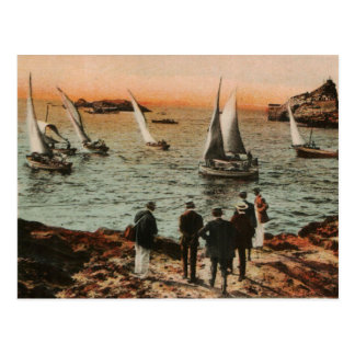 BIARRITZ - Regata in the Old Port photochrom 1910 Post Cards