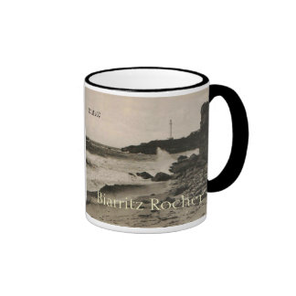 BIARRITZ - Rocher de la Virge France 1920 Ringer Coffee Mug