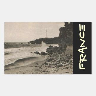 BIARRITZ - Rocher de la Virge France 1920 Rectangular Sticker