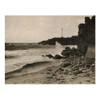 BIARRITZ - Rocher de la Virge Francia 1920 Tarjeta Postal