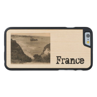 Biarritz seaside france replica 1910 carved maple iPhone 6 case