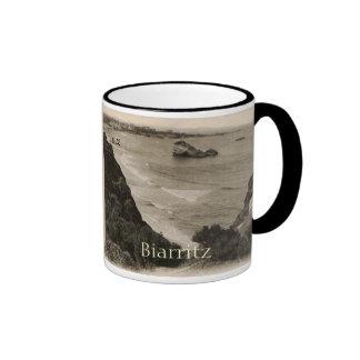 Biarritz seaside france replica 1910 ringer coffee mug