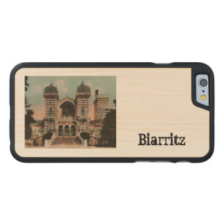 Biarritz Thermes Thermal Spa Carved Maple iPhone 6 Case