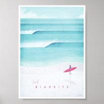 Biarritz Vintage Travel Poster