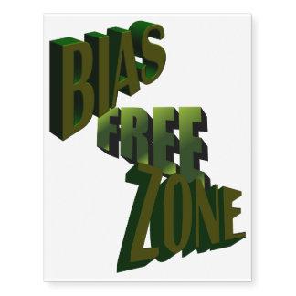 Bias-Free Zone Temporary Tattoo