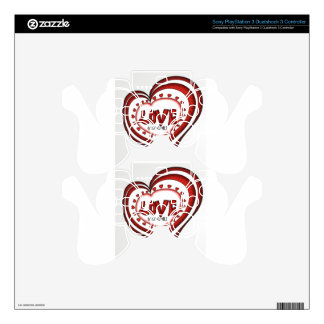 Bias heart lots of love PS3 controller decal