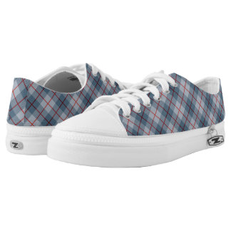 Bias Plaid Blue-Red Stripe Printed Shoes