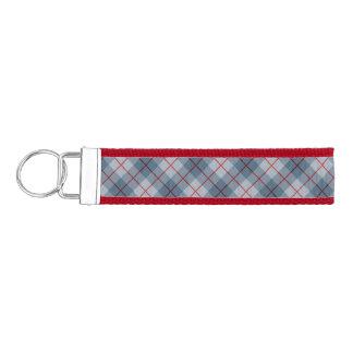 Bias Plaid Blue-Red Stripe Wrist Keychain
