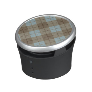 Bias Plaid in Blue and Brown Bluetooth Speaker